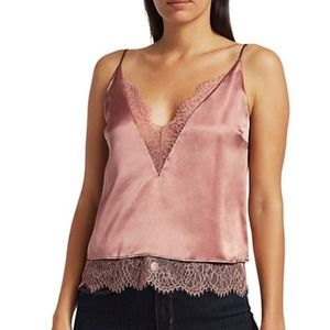 CAMI NYC the Shay Silk Top in Sienna size L NWT